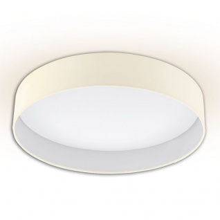 Licht-Trend Palo LED-Deckenleuchte Textilschirm Ø 50cm Creme Deckenlampe