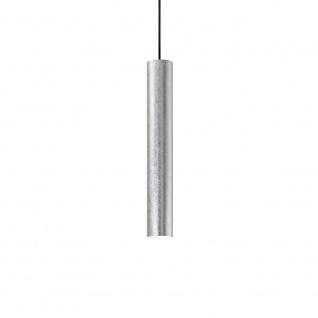 Ideal Lux 141800 Look Pendelleuchte Zylinder Ø 6cm echtes Blattsilber