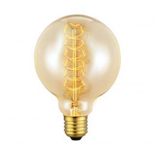 E27 Vintage Deko-Leuchtmittel / 60 W / Globe-Form Ø 9, 5 cm Glühlampe