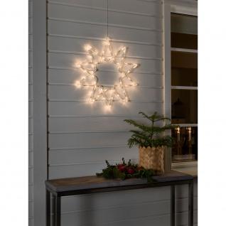 LED Acryl Stern 10 Zacken 60 Warmweiße Dioden 24V Außentrafo