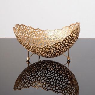 Holländer 433 3563 Dekoschale Utopistico Klein Metall Gold