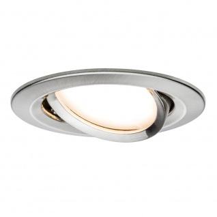 Paulmann 3er LED Einbauleuchten-Set Coin Slim IP23 rund 6, 8W Eisen schwenkbar 93865