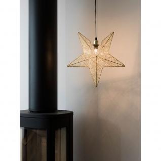 Konstsmide 3555-800 Messingfarbener Metallstern, inkl. Anschlusskabel mit an/aus Schalter, ohne Leuchtmittel, E14 Lampenhalterung für Innenbereich