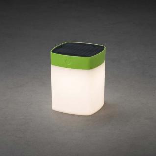 LED Solarleuchte Assisi Grün, opales Acrylglas Solar Gartenlampe Gartenleuchte