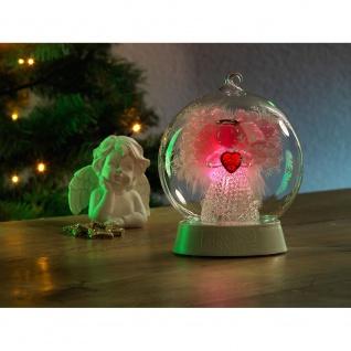 Glaskugel Engel mit 3 Funktionen Timer RGB-Farbwechsel 1 RGB Diode batteriebetrieben für Innen