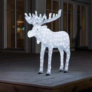Konstsmide 6261-203 LED Acryl Elch 200 kaltweisse Dioden 24V Außentrafo