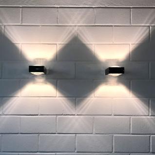 s.LUCE BigX Wandleuchte Up Down Alu-matt Wandlampe Effektleuchte Flurlampe