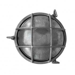 Nordlux Schiffs-Wandlampe Polperro IP64 Nickel, Glas 49021055