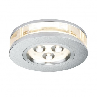 Paulmann Premium EBL Set Liro rund LED 3x3W 350mA 9VA 90mm Alu geb. Klar