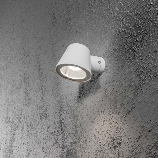 Konstsmide 7523-250 Trieste Aussen-Wandleuchte Weiß klares Acrylglas Reflektor