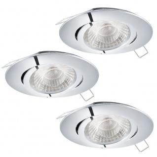 Eglo 95358 Tedo 1 LED Einbauspot 3er-Set Chrom