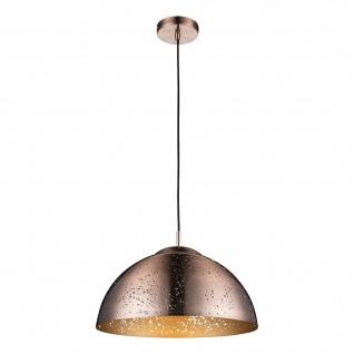 Tamor Hängeleuchte rund Halbkugel mit Dekorstanzung Kupferfarben