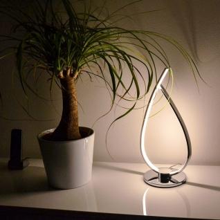 Roncade LED-Tischleuchte 38cm 1200lm Chrom Tischlampe