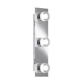 Wofi Lorient LED Deckenleuchte 3-flammig Nickel matt Chrom 7848.03.54.0044