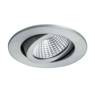 Brumberg LED-Einbaustrahler rund dim2warm & schwenkbar Alu-Matt LED-Deckenspot