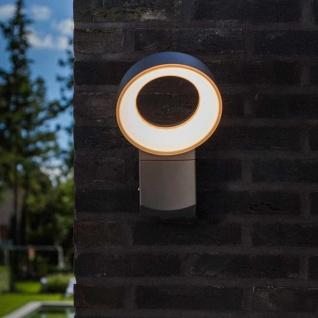 Lutec Meridian LED-Außenwandleuchte mit Bewegungsmelder IP54 800lm Anthrazit - Vorschau 4