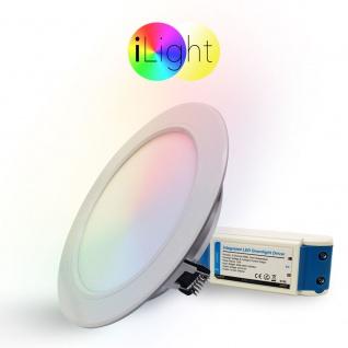 iLight LED-Einbaupanel Ø18cm 1056lm RGB+CCT LED-Lampe Farbwechsel & Dual White