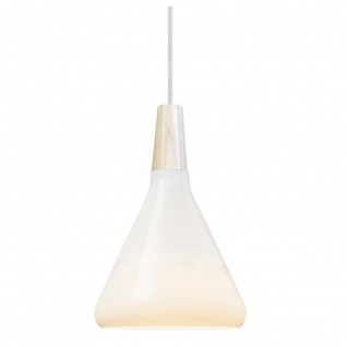 Design for the People Hängelampe Float Nordic Ø 18cm Opalglas, Eiche