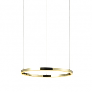 s.LUCE Ring S LED-Hängeleuchte Ø 40cm Gold Dimmbar Wohnzimmer Hängelampe LED-Ring