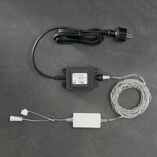 Konstsmide 4600-003 LED System Anschlusskabel für 1040 Dioden 100 Meter 24V Außentrafo. 60 VA schwarz/transparentes Kabel