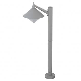 Wofi Manhattan Aussen-Stehleuchte Grau Pollerlampe Sockellampe