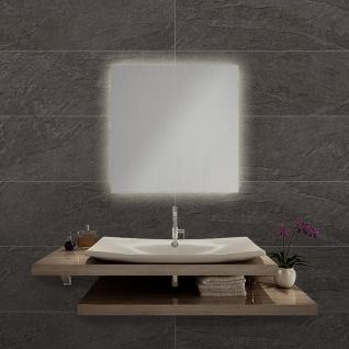 LED Bad Spiegel Nevada SQ 60 x 60cm mit Hintergrundbeleuchtung