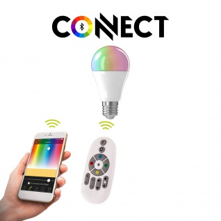 E27 LED-Leuchtmittel Connect 9W RGB+CCT Bluetooth WIFI APP IOS Android