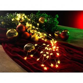 LED Sternenlametta 26 Stränge mit 27 Dioden 702 Warmweiße Dioden 12V Innentrafo goldfarbener Draht