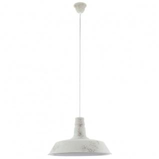 Eglo 49398 Somerton 1 Vintage Hängeleuchte Stahl Weiß gekalkt