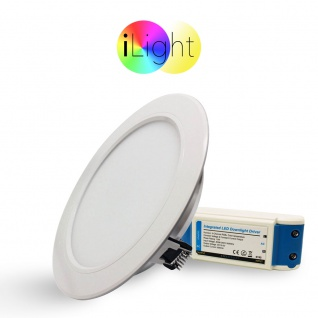 iLight LED-Einbaupanel Ø18cm 1056lm RGB+CCT LED-Lampe Farbwechsel & Dual White - Vorschau 2