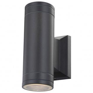 Globo 32028-2 Gantar Aussenleuchte Aluminium Grau Druckguss 2xGU10 LED