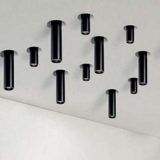 Nova Luce Gypsum GU10 Einbau-Spot Downlight Tube33cm Schwarz