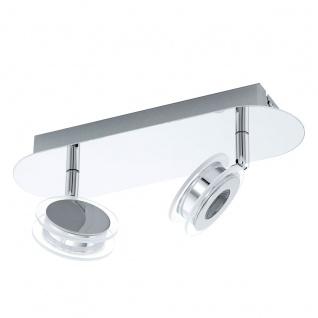 Eglo 94489 Sarolo LED Spot 2 x 33 W Edelstahl Chrom Kunststoff transparent