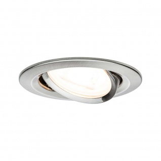 Premium EBL Set Nova rund schwenkbar LED 3x5, 5W 230V Eisen geb/Alu