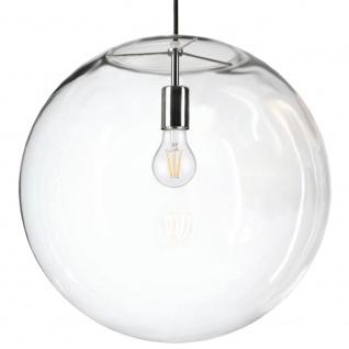 s.LUCE Orb 50 XL Pendellampe Glaskugel Klar Chrom // B-Ware