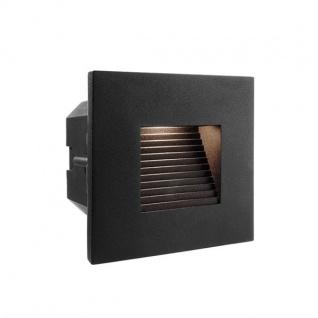 Abdeckung Eckig Schwarz für LED-Einbauleuchte Steps Outdoor