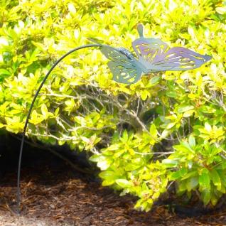 s.LUCE Schmetterling schwingende Garten-Dekoration verzinkt 130cm Dekolampe Aussen