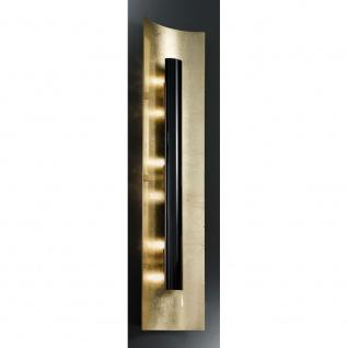 Kögl 98444 Aura Gold Wand- & Deckenleuchte 4-flammig Schwarz 100cm
