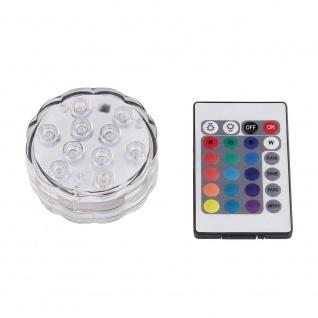 LED Schwimm-Puk mit RGB Farbwechsel und Fernbedienung