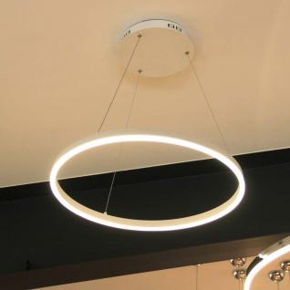 s.LUCE pro LED-Hängeleuchte Ring M Ø 60cm Weiß Design Hängelampe Ringleuchte - Vorschau 2