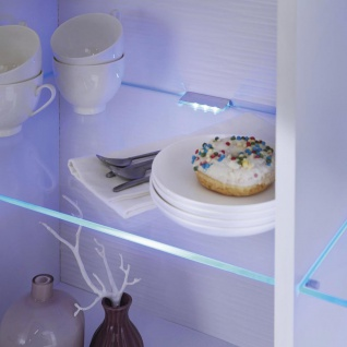 LED Vitrinen-Glasbeleuchtung Gastego Lichtfarbe Blau 2er-Set Vitrinenleuchte