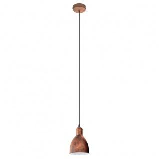 Eglo 49492 Priddy 1 Vintage Hängeleuchte Stahl Kupferfarben-antik