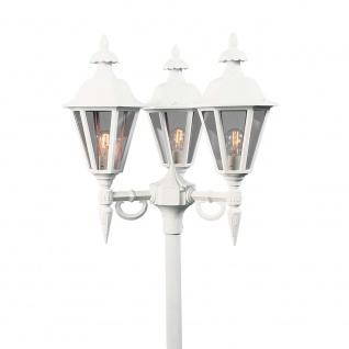 Konstsmide 528-250 Pallas Leuchtenkopf 3-tlg. für Mastleuchte Weiß rauchfarbenes Acrylglas