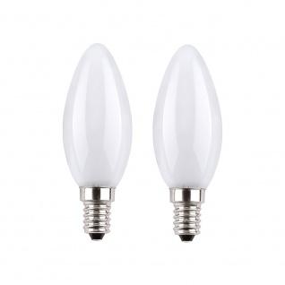 LeuchtenDirekt 08172-2 E14 LED Kerzenlampe 180lm 300° 2W