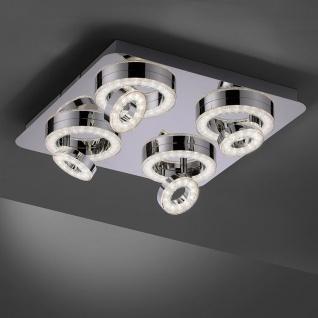 LeuchtenDirekt LED Deckenleuchte LS-Tim 40x40cm RGB+CCT Chrom