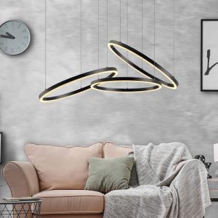 s.LUCE pro LED-Hängeleuchte Ring M Ø 60cm Weiß Design Hängelampe Ringleuchte - Vorschau 5