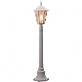 Konstsmide 7215-250 Firenze Wegeleuchte Weiß klares Glas