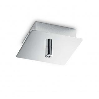 Ideal Lux Ersatzteil Rosone Metallo 1 Quadratisch Schwarz 203249
