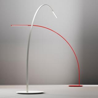 FontanaArte Yumi LED-Stehleuchte Bogenleuchte rot Designerleuchte