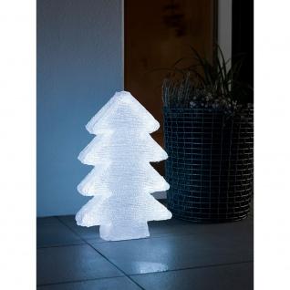 LED Acryl Tannenbaum mit 6 Farbwechselfunktionen 42 RGB Dioden 12V Außentrafo
